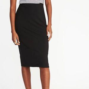 H&M Basics | black pencil skirt - small